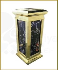 سطل زباله سنگی طلایی