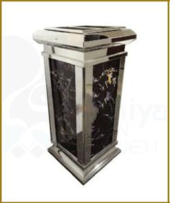 سطل زباله سنگی نقره ای