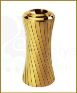 سطل زباله طلایی استیل لابی