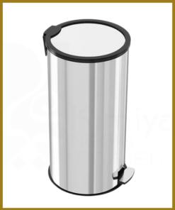 سطل زباله پدال دار 25 لیتری آرام بند استیل